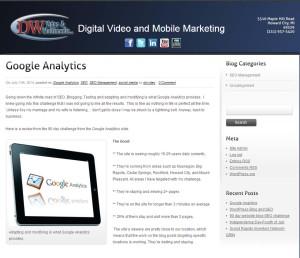 Reviewed Google Analytics