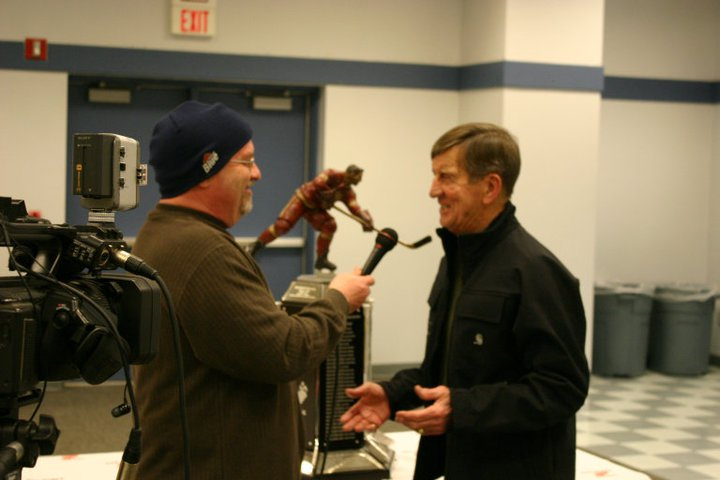 Saint-Ignace-Michigan-Detroit Red Wings DW Video Interviewing Ted Lindsay
