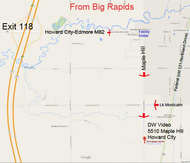 DW Video Map From Big Rapids