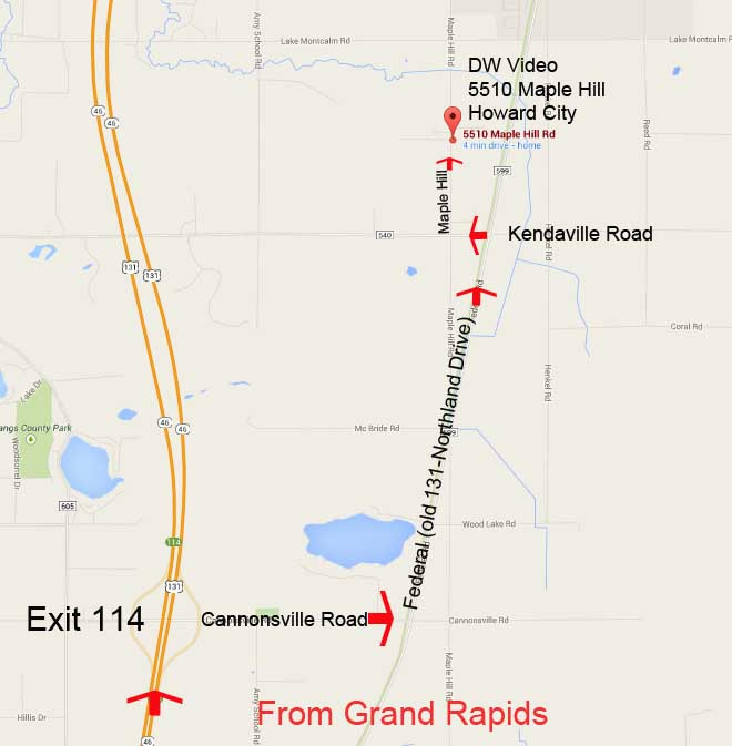 DW Video Map From Grand Rapids
