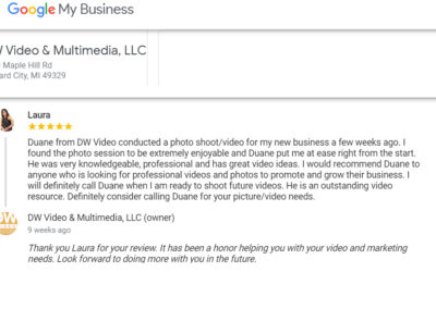 Laura recommends DW Video Google My Business