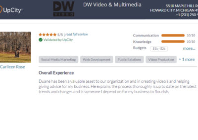 Old Pioneer Store recommends DW Video upcity testimonials